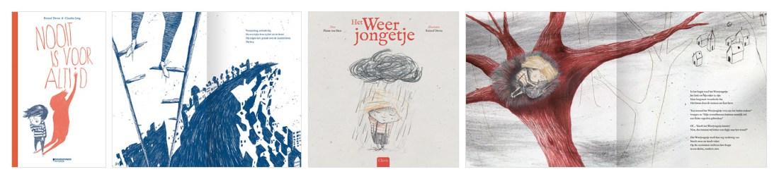 Hoe begin je aan een boek - De covers van Nooit is voor altijd en Het Weerjongetje